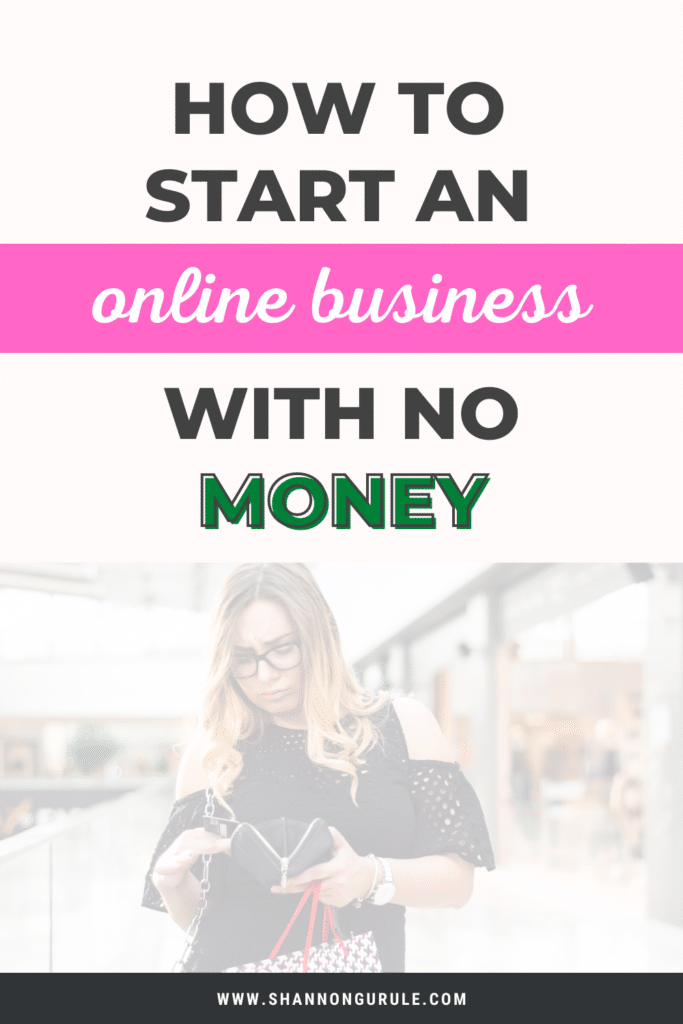 this is a blog graphic image with the title of the blog post written on it and an image of a woman looking in her wallet for money