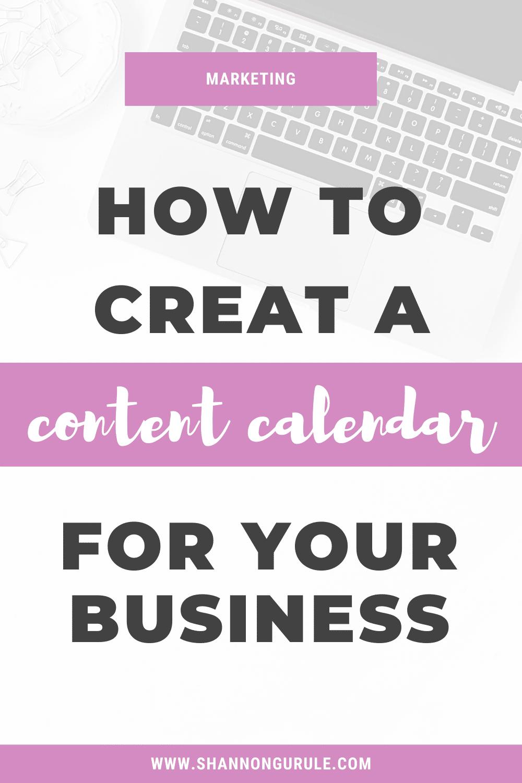How To Create A Content Calendar