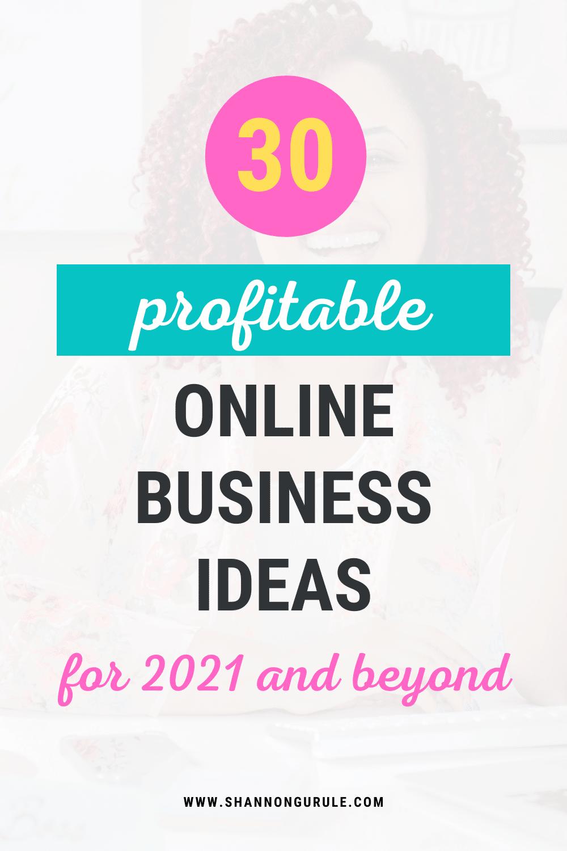 30 Profitable Online Business Ideas